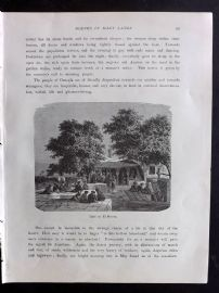 Voyages and Travels 1887 Antique Print. Café at El Mersa, Algeria